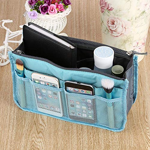 Waterproof Cosmetic Makeup Bag Organizer Travel Insert Handbag Unisex Blue YG]()