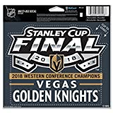 Official Vegas Golden Knights 2018 Western Conference Champions 5'' x 6'' Cut To Logo Multi-Use Decal