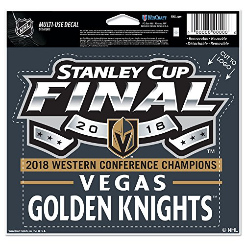 Official Vegas Golden Knights 2018 Western Conference Champions 5'' x 6'' Cut To Logo Multi-Use Decal by WinCraft