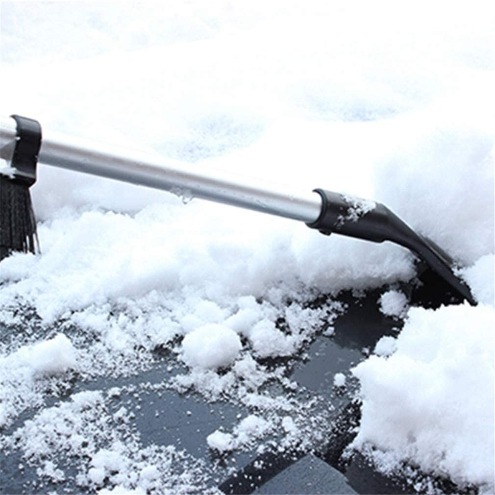 Guoshang Car Snow Brush Ice Scraper Telescopic Long-Handle for Dual Car Ice Scraper Snow Brush for Roof Bumpers Windshield
