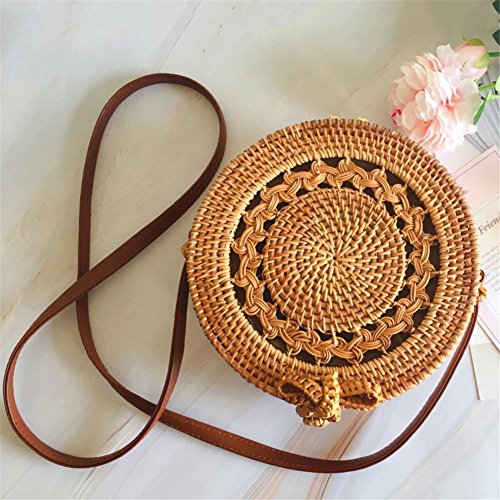 Outdoor Small Shoulder Bag Rattan For Summer Woven Handbag Purebesi body Handbags Beach Bag Crossbody Lovely Shoulder woven Bag Hand Cross Beach Straw Bag Vines Straw wC00Ygq
