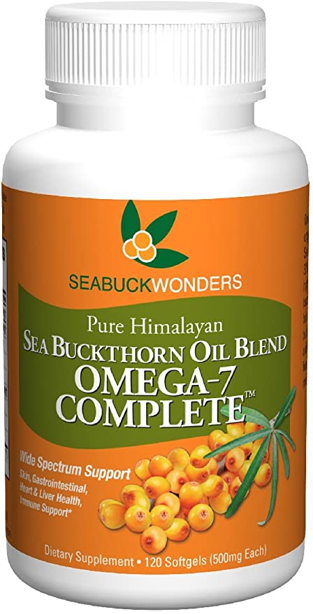 Amazon Com Sea Buckthorn Oil Blend Omega 7 Complete 120 Count Softgels Health Personal Care