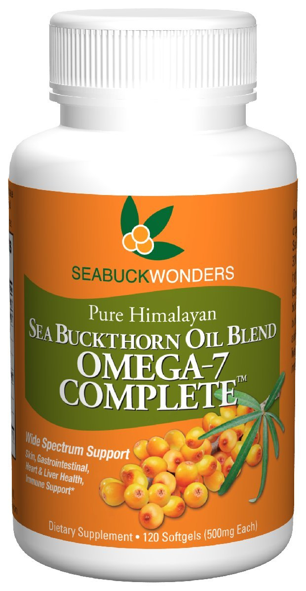Sea Buckthorn Oil Blend, Omega-7 Complete, 120 Count Softgels by Seabuckwonders