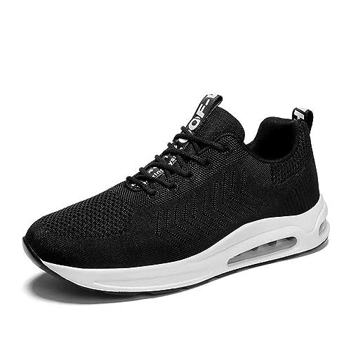 b53f5bed53 Laufschuhe Herren Damen Sportschuhe mit Luftpolster AIR Turnschuhe  Profilsohle Sneakers Fitnessschuhe Leichte Schuhe(A92-