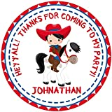 Cowboy Birthday Party Sticker Favors