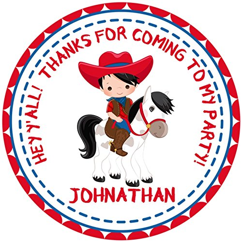 Cowboy Birthday Party Sticker Favors by Party Beautifully