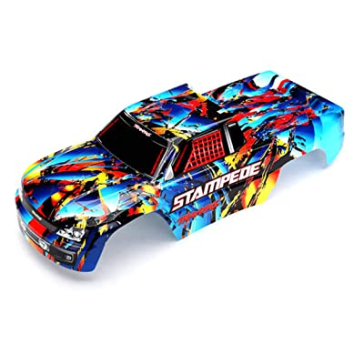 Traxxas TRA3648 Body, Stampede, Rock n' Roll (Painted, Decals Applied): Toys & Games