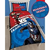 Marvel Captain America Civil War Single/US Twin Duvet Cover Set