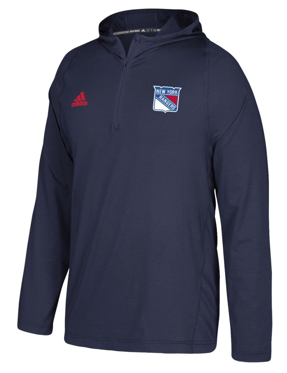 adidas New York Rangers NHL Men's 2017 Authentic Training Hooded Sweatshirt