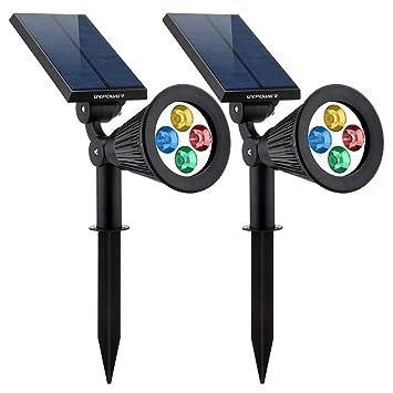 URPOWER Solar Lights 2-in-1 Solar Powered 4 LED Adjusta...