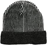 French Connection Women's Pocket Knit Lisa Beanie, Dark Grey MARL, One Size