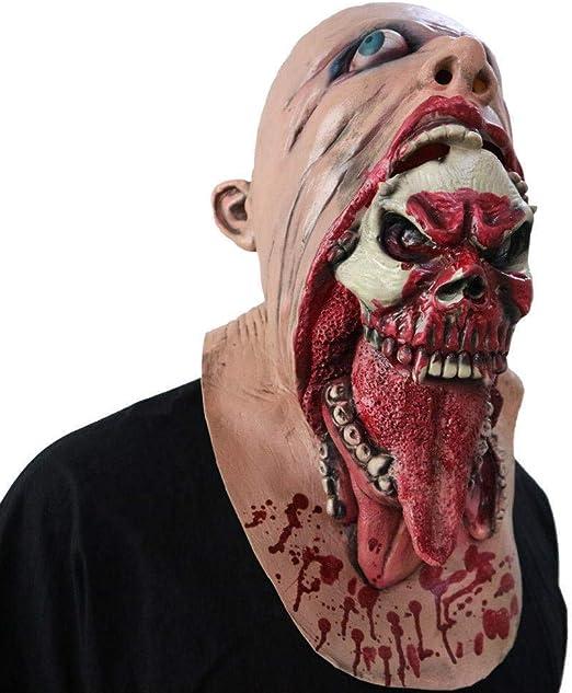 LLWGNZM Mascara-Máscara sangrienta del Zombi Cara de fusión ...