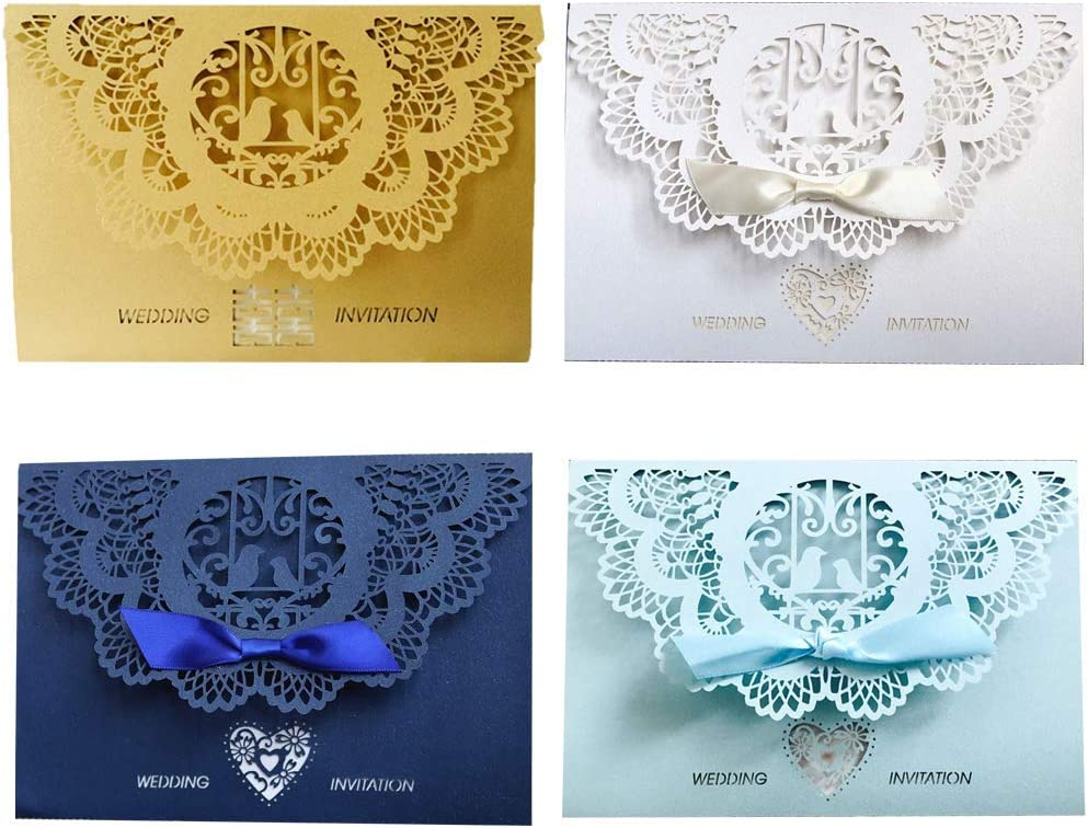 Vektenxi 10pcs//Set Personalized Wedding Invitations//Invites European Style Lace Greeting Invitation Card for Wedding Favours Durable and Useful