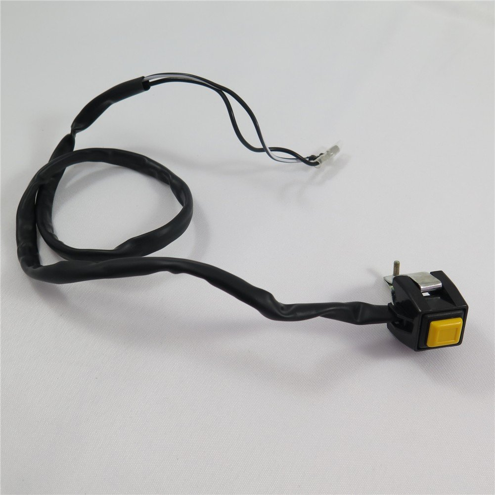 SEMT- Universal Yellow 7/8' Handlebar Starter/Kill Cut Off Stop Switch Push Button For Motorcycles ATVs Scooters Snowmobiles