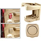 Delhitradess Highly Quality Beige Foldable Car Drink/Can/Glass/Bottle Holder for Hyundai Accent