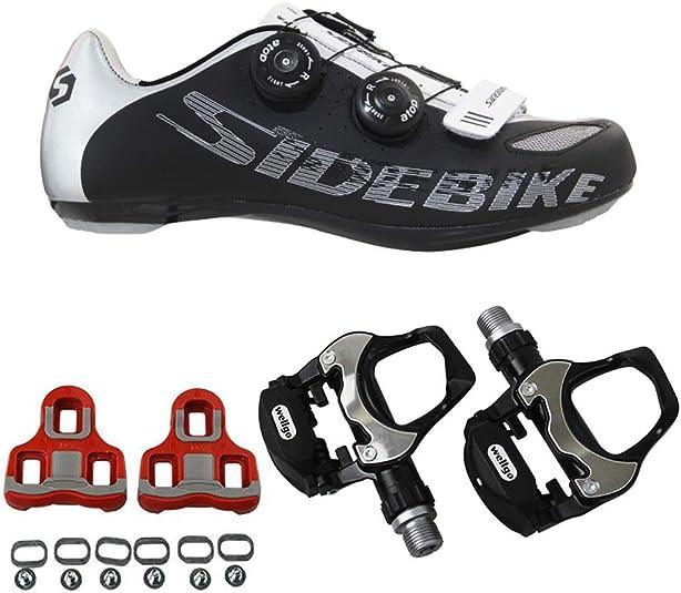 SIDEBIKE Zapatillas de Ciclismo para Adultos con Pedales y Calas ...