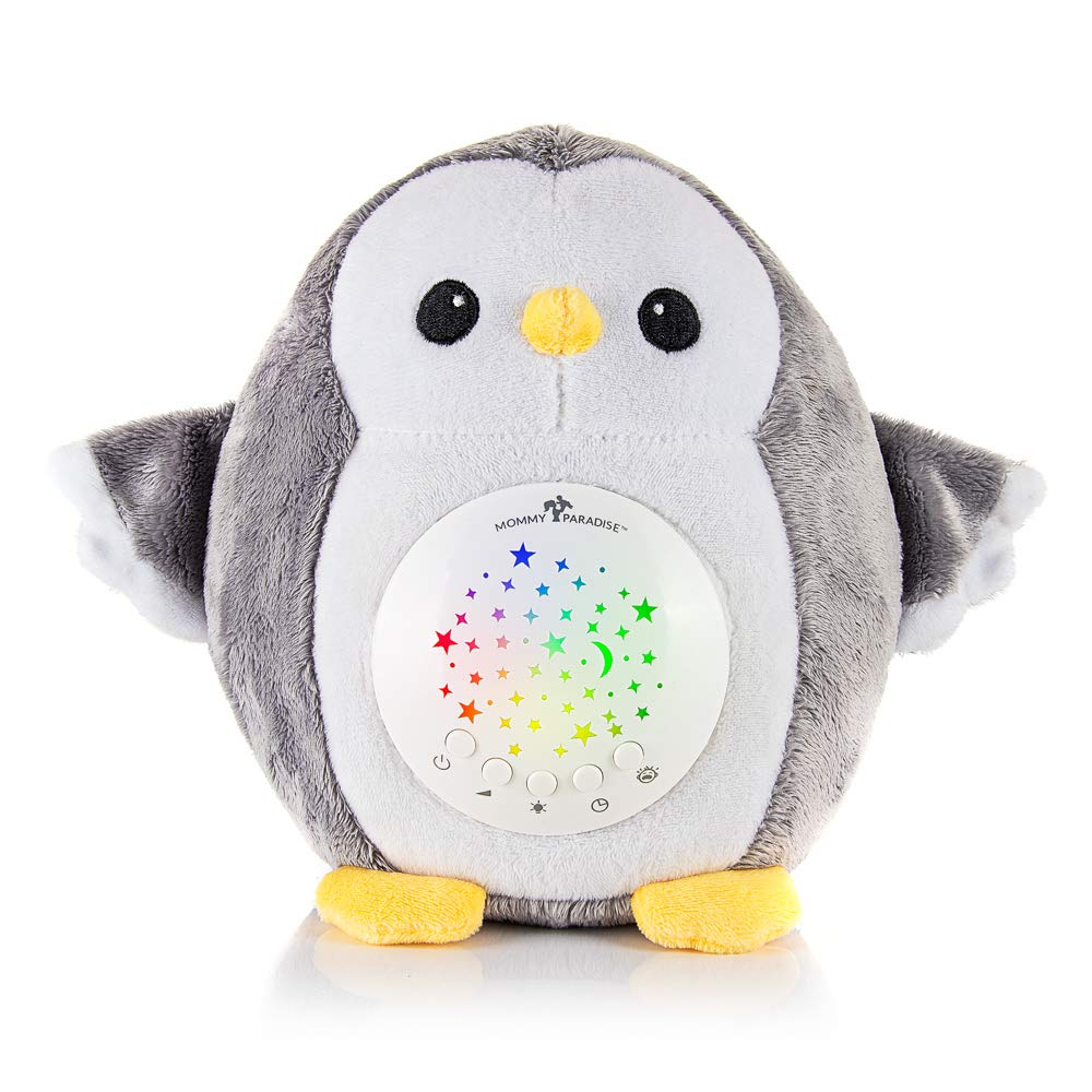 Mommy Paradise - Baby Gifts White Noise Sound Machine with Cry Sensor - Baby Soother Sleep Aid, Night Light Projector - Decor Nursery, Portable Crib Lullabies & Shusher, Make Ideal Baby Shower Gift by Mommy Paradise