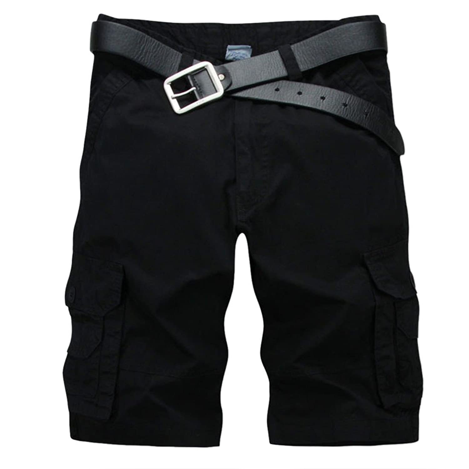 Fashion Men Army Casual Cotton Pockets Washable Overalls Sports Shorts Pants