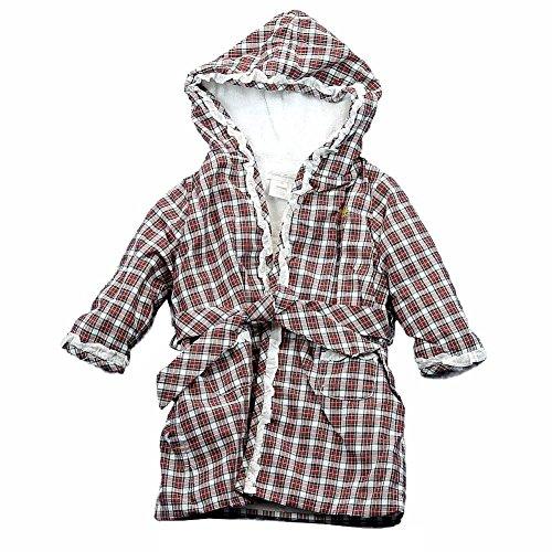 RALPH LAUREN Polo Infant Girl's 100% Cotton Tartan Red Multi Bath Robe
