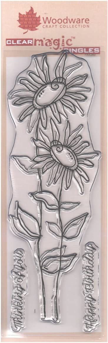 FRS349 Tatty Daisies Creative Expressions Woodware 3 x 8 Clear Cling Stamps