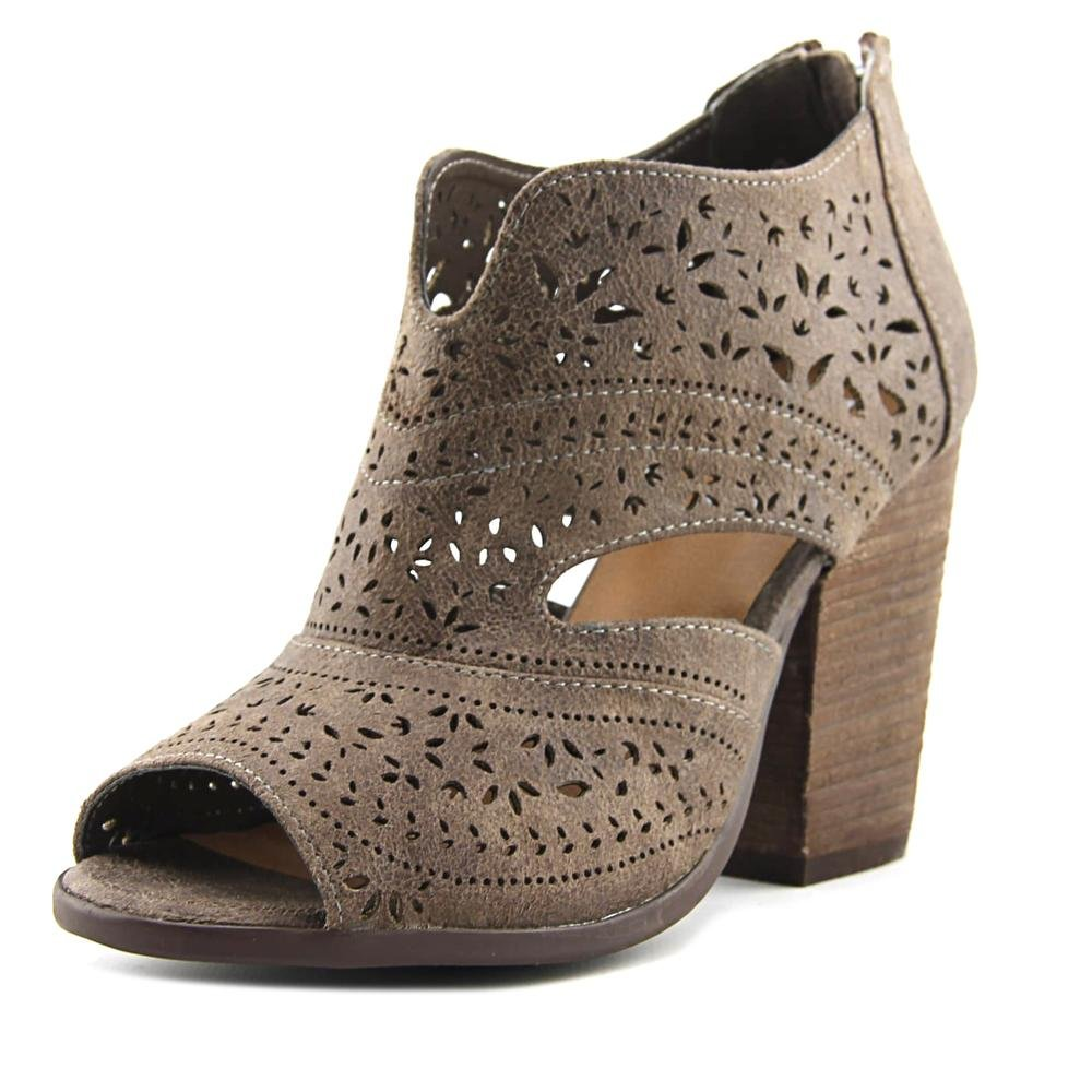 Not Rated Womens Santana Laser Cut Bootie (Light Taupe, 6.5)