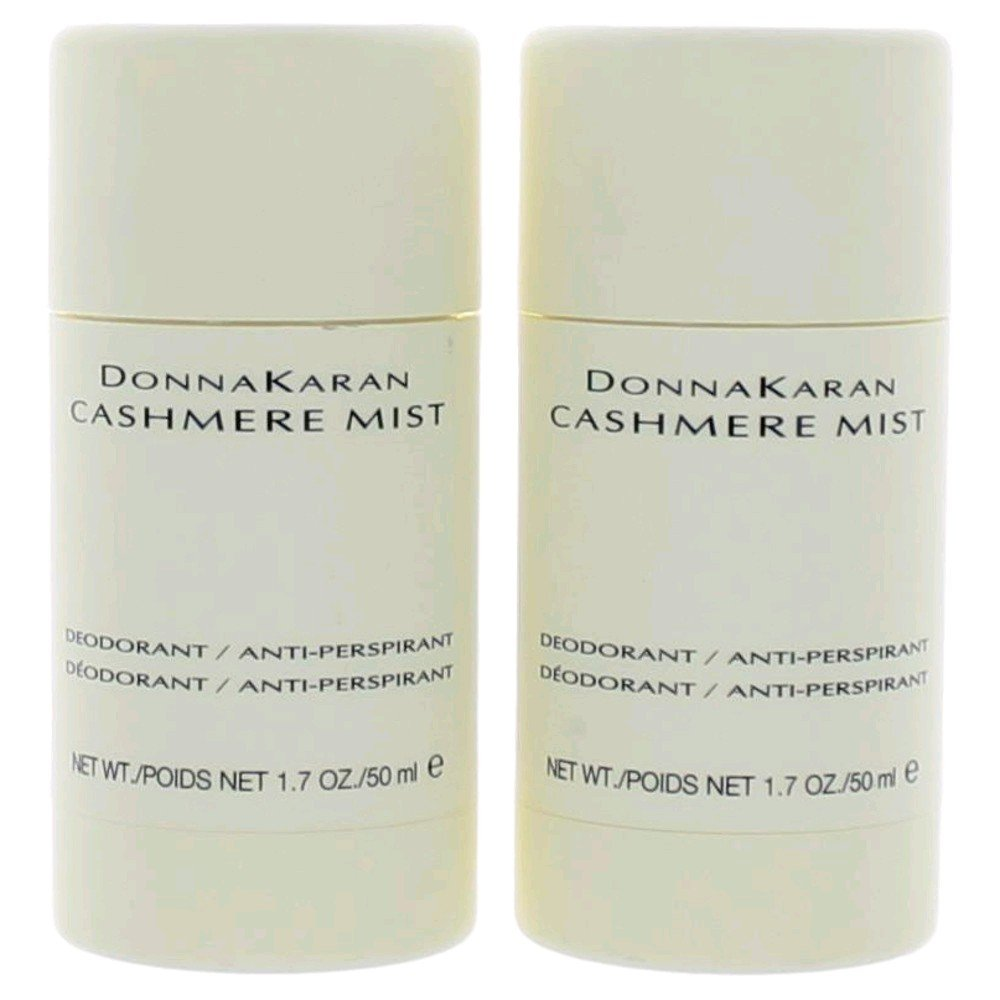 Donna Karan Cashmere Mist Deodorant / Anti-Perspirant 1.7 oz (Qunatity of 2)