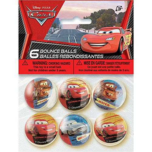 Disney Cars Bouncy Ball Party Favors, 6ct