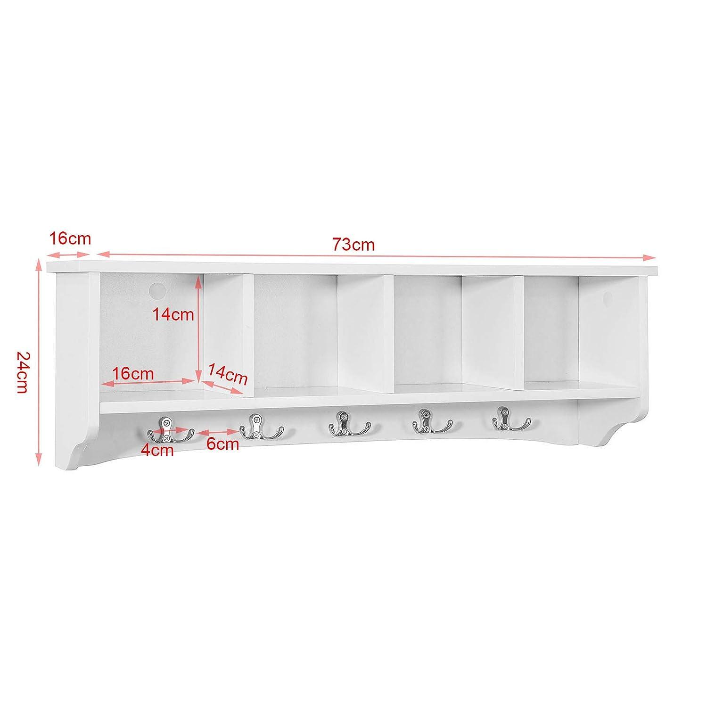 ES Entrada Zapato Gabinete Dresser C/ómodo Banco FSR23-W Zapatero SoBuy Banco de Almacenamiento con Acolchados Cojines y 3 Cubos