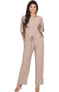 b00ec73cea0a KOH KOH Womens Short Sleeve Long Pants Suit Jumpsuit Playsuit One Piece  Romper