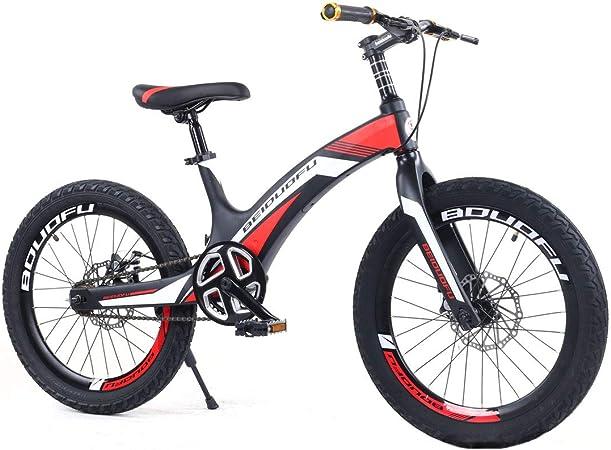 Jun Bicicleta para Niños De Aleación De Aluminio Y Magnesio De 20 Pulgadas, Freno De Disco Doble De Velocidad Única para Estudiante/Niño/Viajero, Bicicleta De Montaña, Naranja: Amazon.es: Hogar