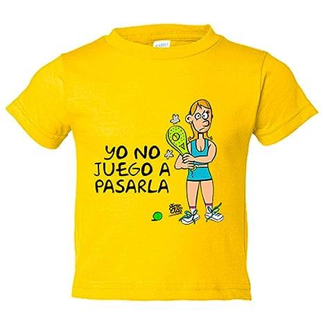 Camiseta niño padel ella yo no juego a pasarla - Amarillo, 3 ...