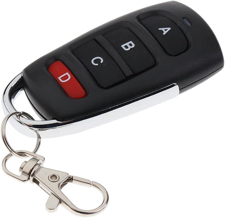 FITYLE Chiave Telecomando Controllabile Trasmettitore Universale Per Cancelli Garage Gate 4 Keyfob