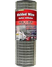YARDGARD 309301A 4 inch by 25 foot 16 gauge, 1/2 inch by 1 inch mesh galvanized welded wire