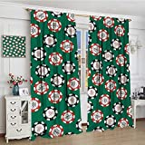 smallbeefly Casino Thermal Insulating Blackout Curtain Stylized Poker Chips Pirate Symbols Money Diagonal Bones Skull Risk Artwork Decorative Curtains For Living Room 96''x96'' Jade Green Red