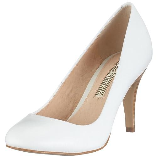 109-5046 107964 - Zapatos de salón para mujer, color blanco, talla 41 Buffalo