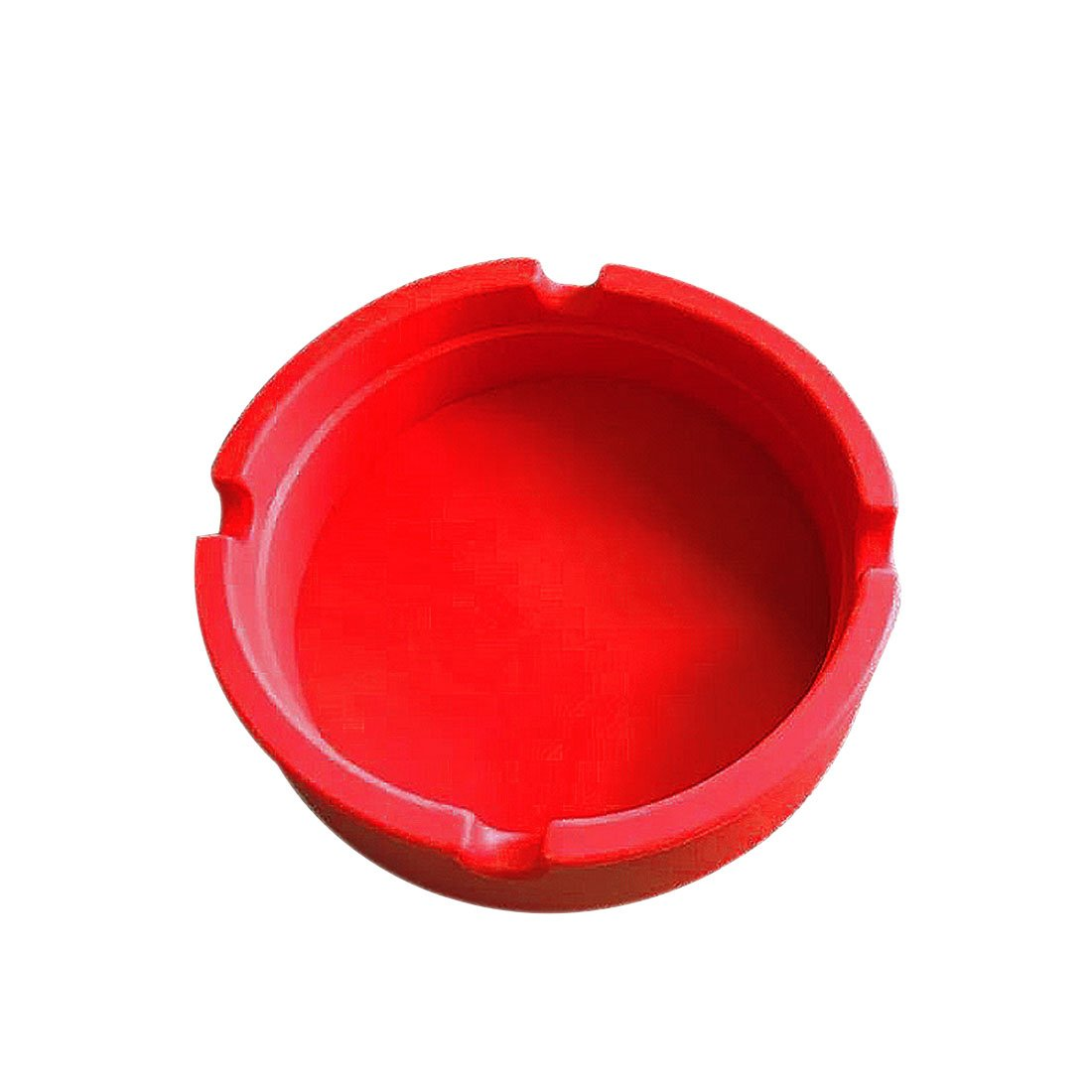 Rubber Silicone Soft Eco-Friendly Heat Resistant Pocket Round Shatterproof Cigar Ashtray Blue