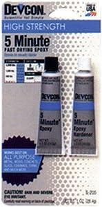 Devcon Epoxy All Purpose Wood, Concrete, Ceramic Clear Carded 1 Oz12