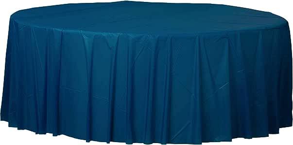 Plástico redondo Mantel Amscan Internacional (Bandera Azul): Amazon.es: Juguetes y juegos