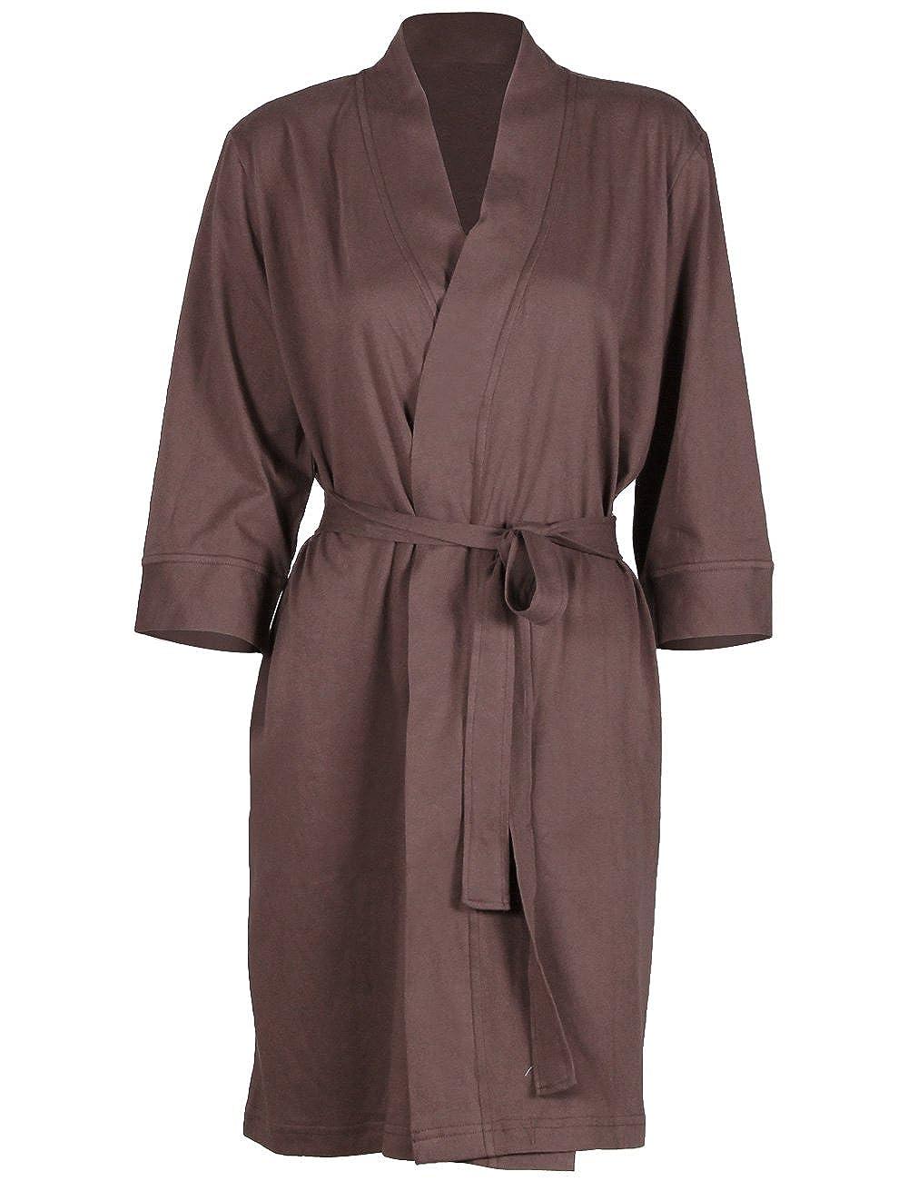Godsen Women's Plus Size Comfort Cotton Sleepwear Bathrobe Coffee) GB11074c