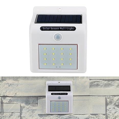 Hillrong - Luces solares para jardín, 16 LED, con sensor de movimiento para exteriores