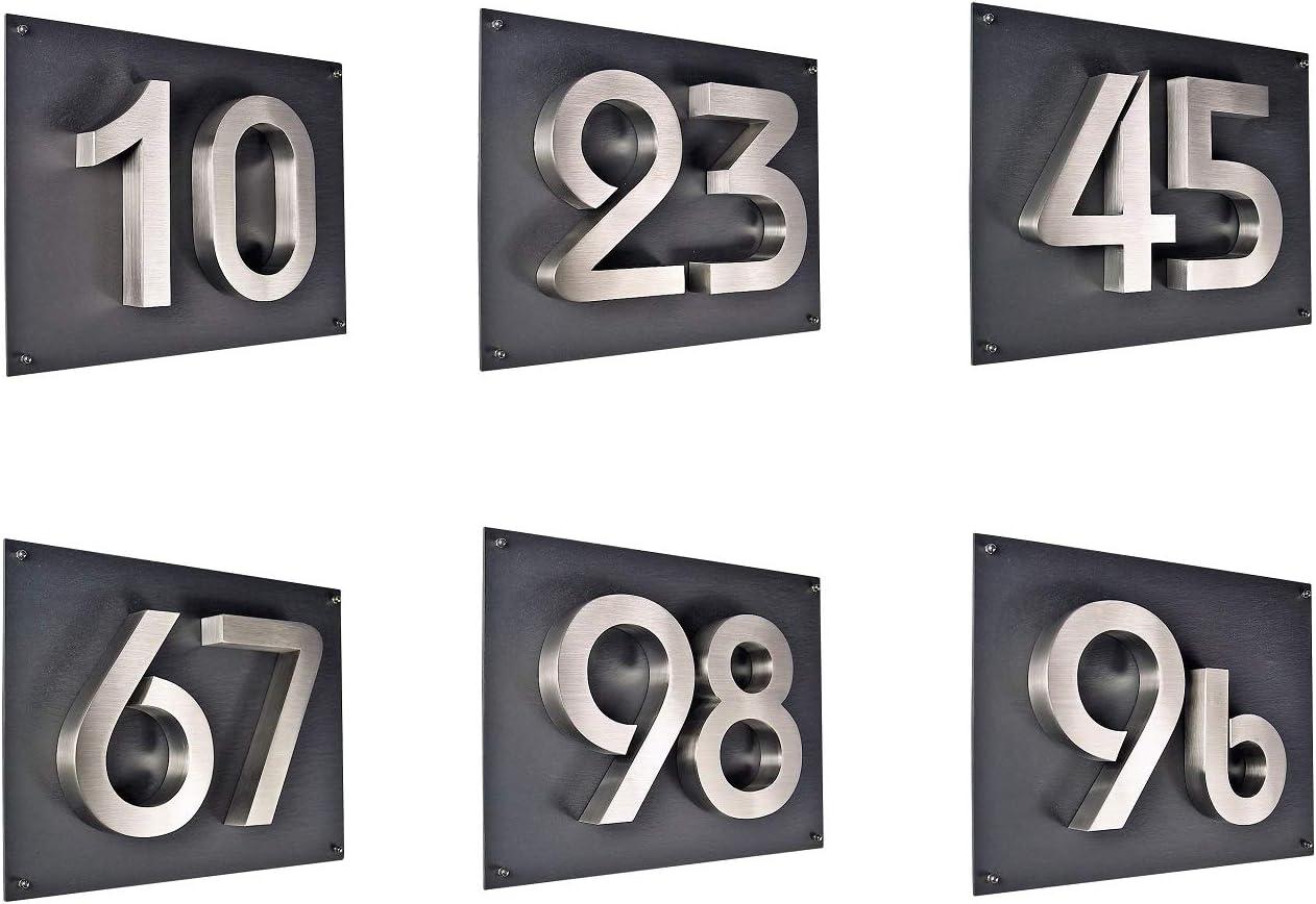 1 Hausnummer 3D Edelstahl V2A diamant 1 anthrazit H/öhe 25 cm Arial XXL Gr/ö/ße wetterfest rostfrei V2A im Shop 0 1 2 3 4 5 6 7 8 9 a b c
