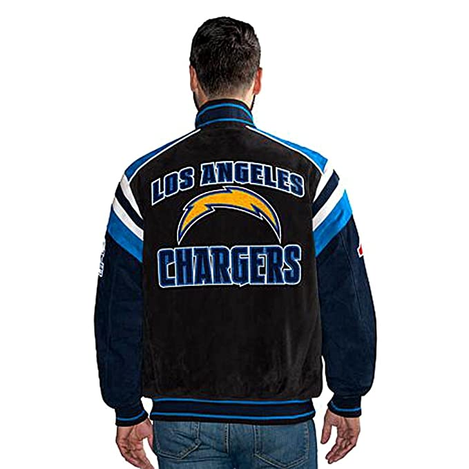 new styles e02f5 77855 Los Angeles Chargers Suede Leather Jacket NFL LA Apparel asst Sizes