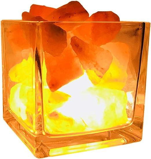W&Z Luz de Noche de la lámpara de Sal del Himalaya, purificador de ...