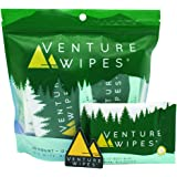 Venture Wipes: Large 12x12 Inch Individually Wrapped Body Wipes - Natural Ingredients & Biodegradable. Textured Wipe…