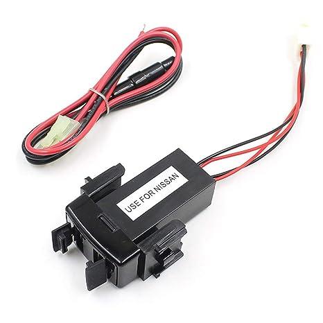 Banbie para Nissan Car Dual USB Socket Cargador de Coche ...
