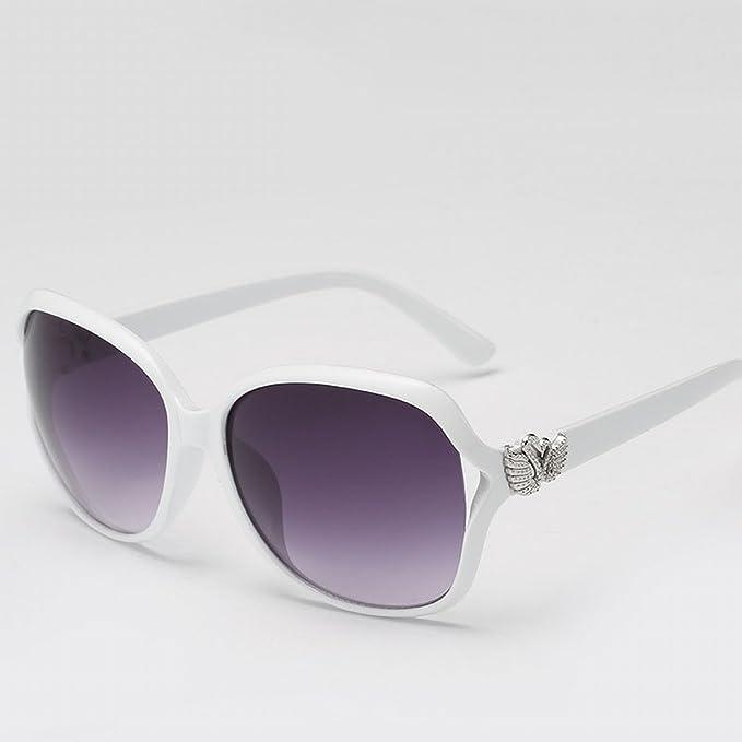 Dame Retro Sonnenbrille Arbeiten Große Rahmen Sonnenbrille , Weißer Rahmen Progressiver Film