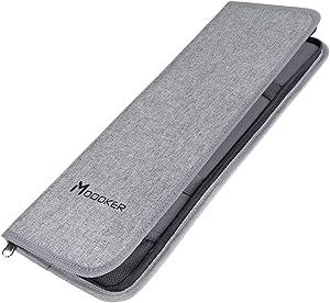 Modoker Mens Gift Tie Case for Travel Necktie Carrier Organizer Bag Storage Cufflinks and Suit Accessories, Grey