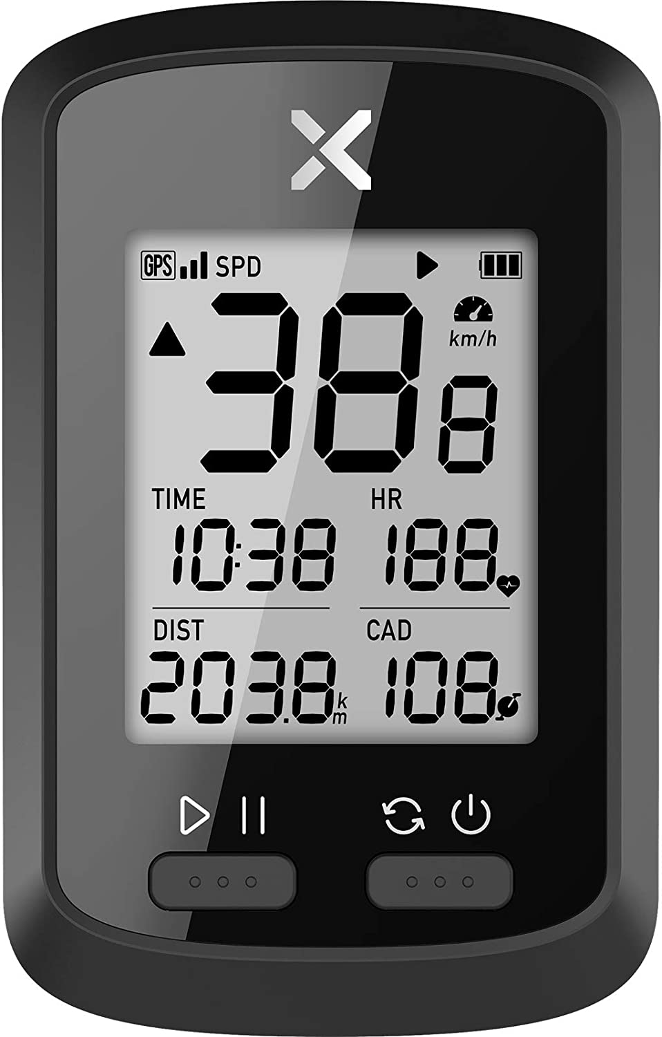 XOSS G+ GPS Bike Computer, Bluetooth ANT+ Cycling Computer, Wireless Bicycle Speedometer Odometer with LCD Display, Waterproof MTB Tracker Fits All Bikes (Support Heart Rate Monitor & Cadence Sensor) : Sports & Outdoors