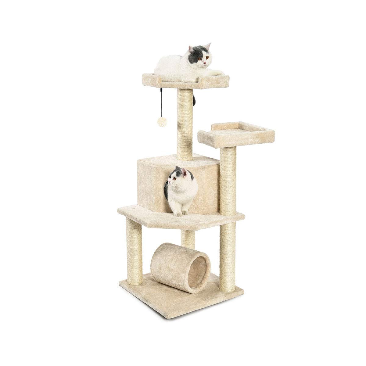 AmazonBasics Cat Tree with Platform, Scratching Posts, X-Large Size 61m21-ypAEL