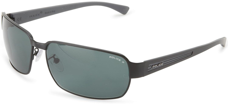 Amazon.com: Police S8653 – 531P Wrap anteojos de sol, negro ...